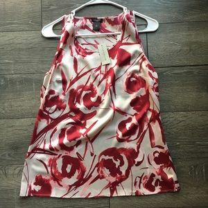 Anna Taylor silk short sleeve blouse